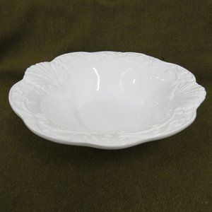 "Ceriart Large 12"" Round White Porcelain Bowl"